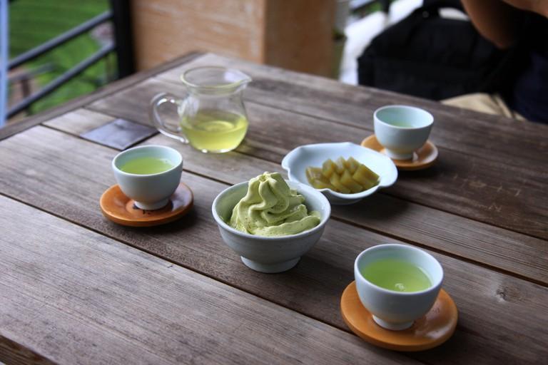 Green tea sweets