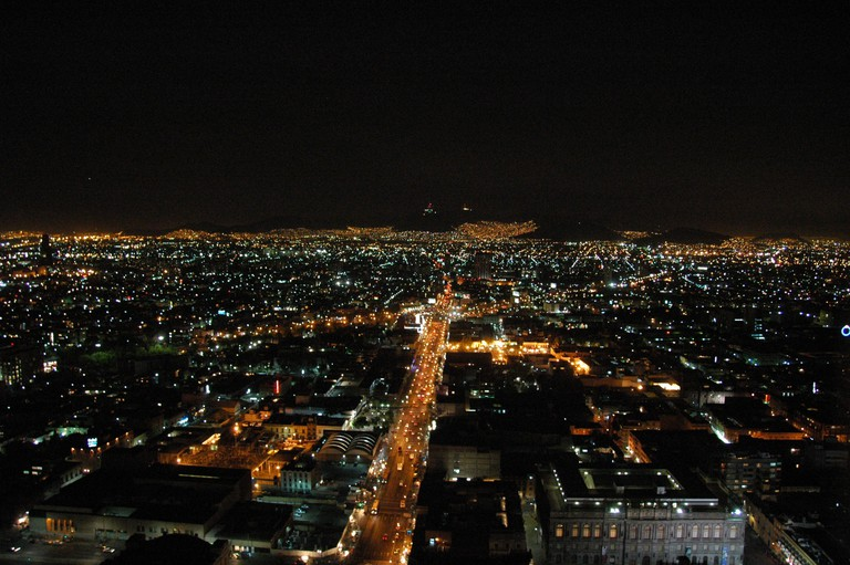 Landing in Mexico City at night is amazing