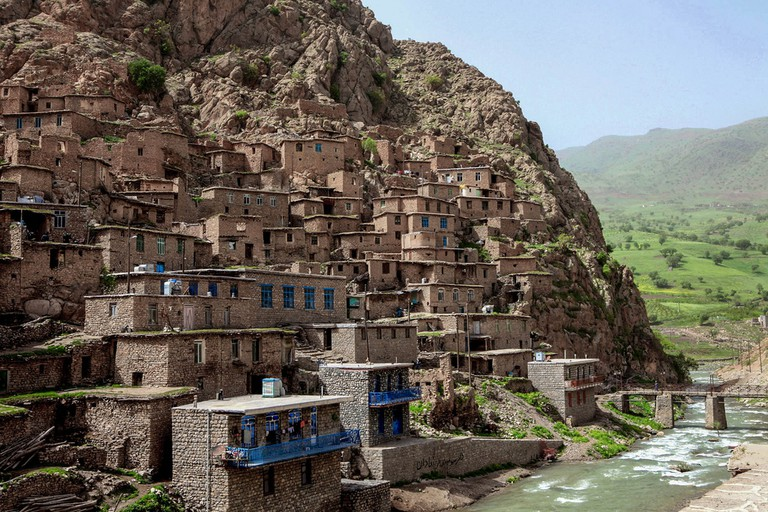The vertical village of Palangan has been carved into the mountain