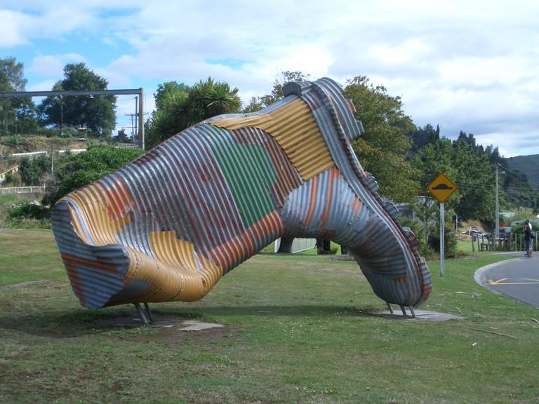 Taihape Gumboot Sculpture