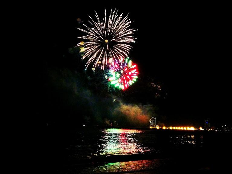 Fireworks at sea © Luisa