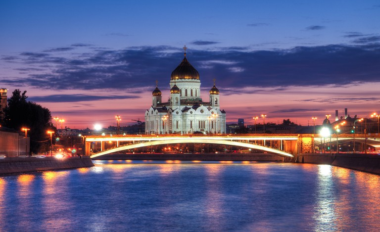 Cathedral of Christ the Saviour at night