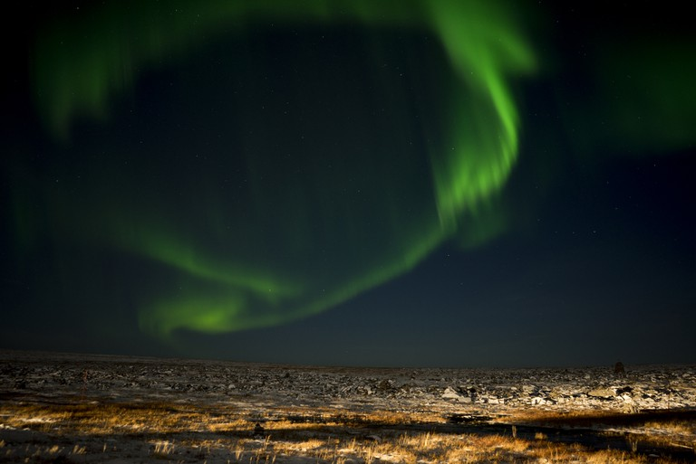 Northern lights at North Cape