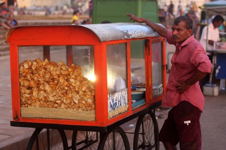 Sri Lankan streetfood seller