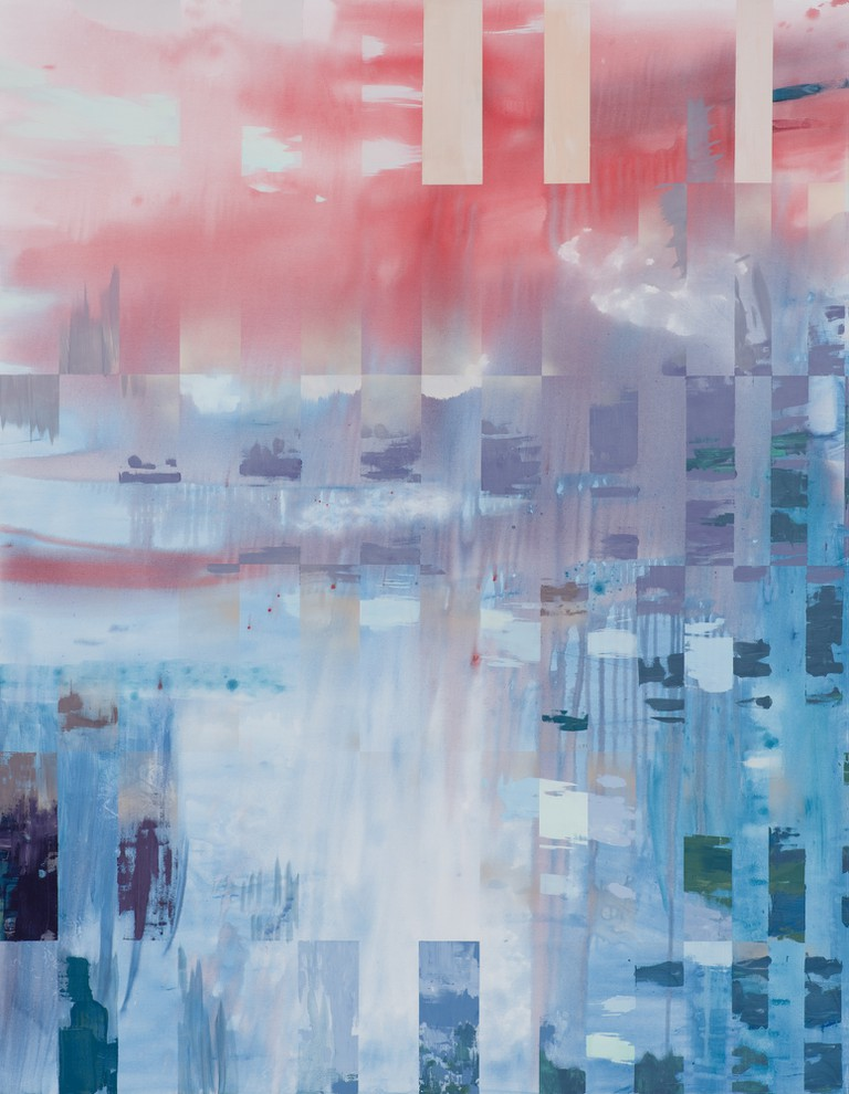 One of Jezierski's new paintings entitled Overlap will be on exhibit at her upcoming solo show