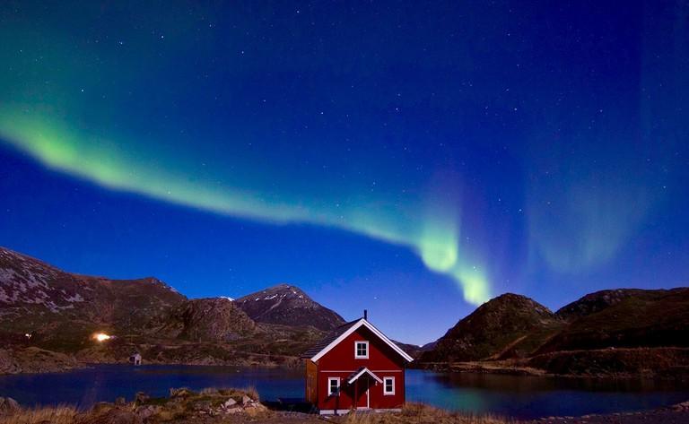 Aurora borealis at Vesterålen