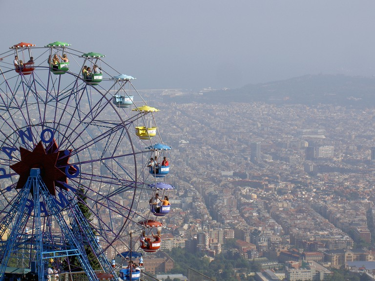 The ferris wheel at Tibidabo