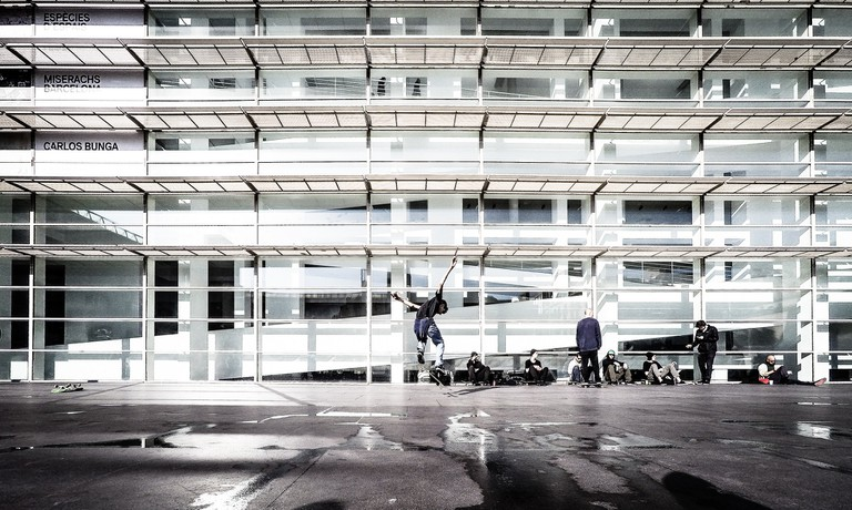 Skater at the MACBA