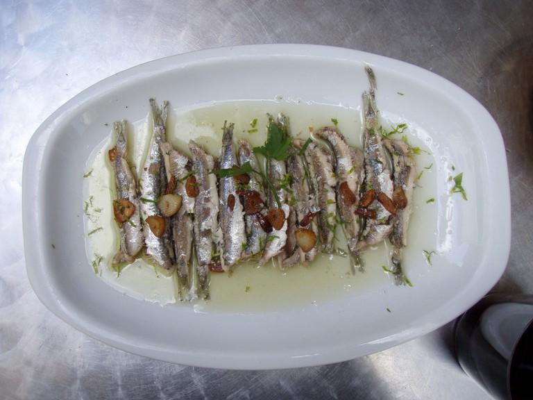 Boquerones white anchovies © Daniel Lobo