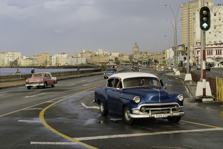 La Rampa starts at the intersection of Malecón and 23rd Street, Havana