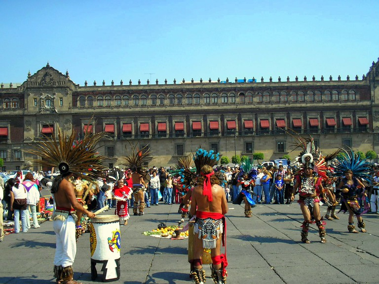 Drumming and dancing in Mexico City