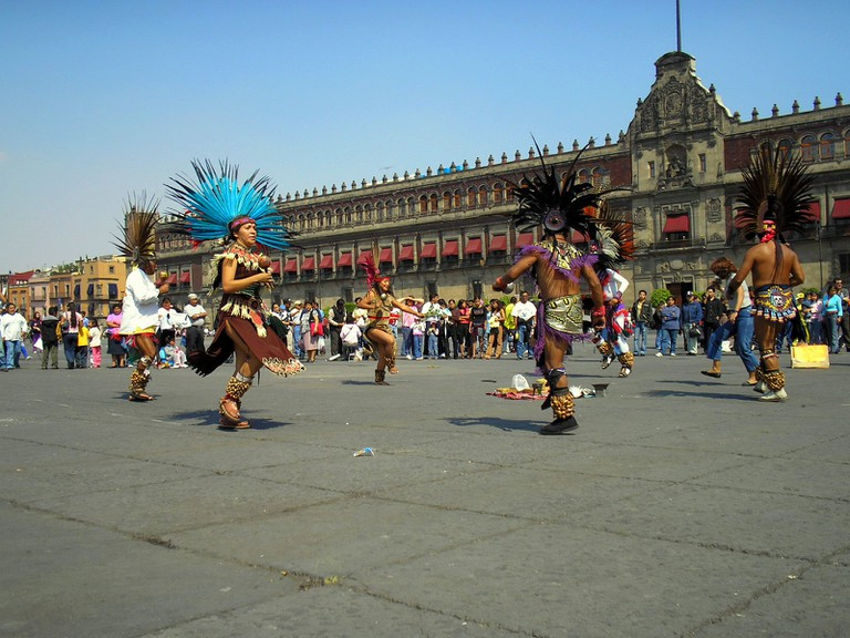 Dancers in the zocalo