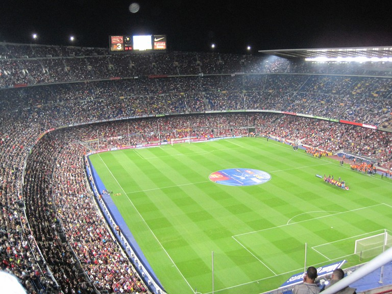 A busy Camp Nou stadium © Oh-Barcelona.com