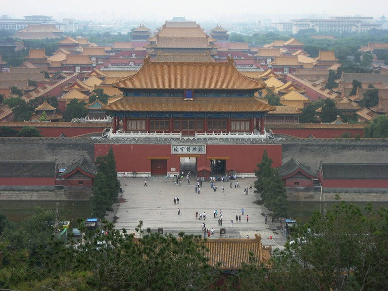 The back entrance to the Forbidden City as seen from Jingshan Park, Beijing © David Stanley/Flickr