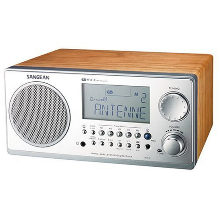 Sangean WR-2 FM-RBDS AMWooden Cabinet Digital Tuning Receiver (Walnut), $118