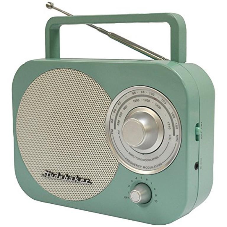 Studebaker Portable AM/FM Radio in Teal STUD-SB2000TE, $26