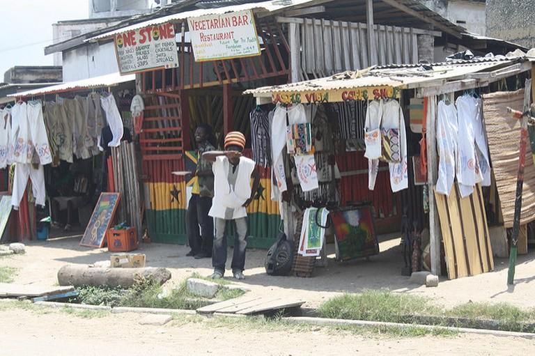 Rasta Shops at Cape Coast