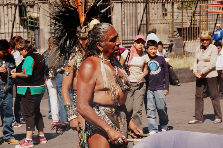 An Aztec Dancer in Mexico City