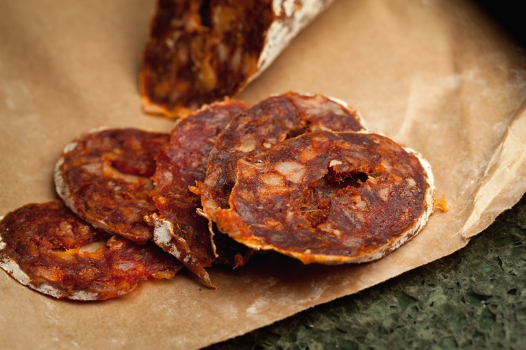 A cured chorizo from the Rioja © photoskate