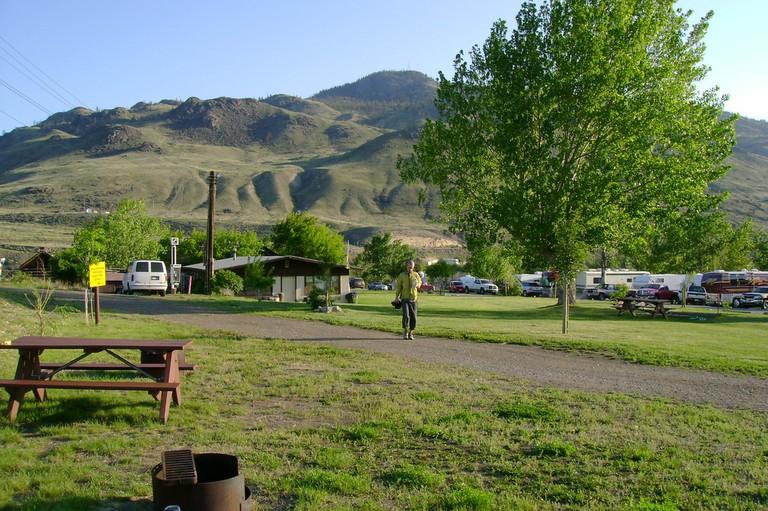 Campground in Savona, BC