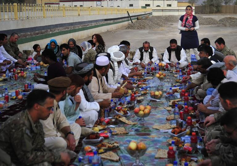 Iftar meal together