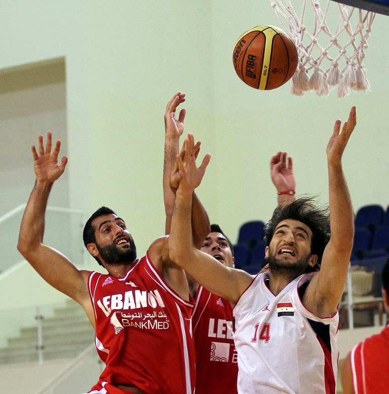 A friendly match between Lebanon and Syria