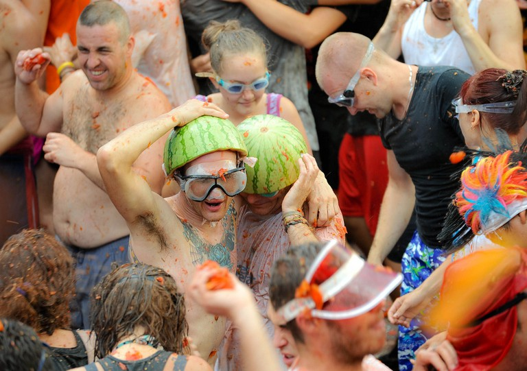 Participants in La Tomatina. Photo: Flickr/Artwidak