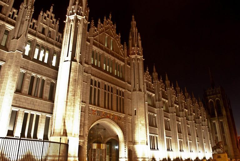 Marischal College At Night