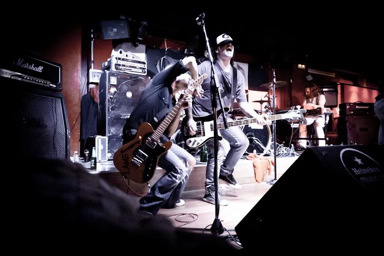 Live music at Wah Wah bar, Valencia.