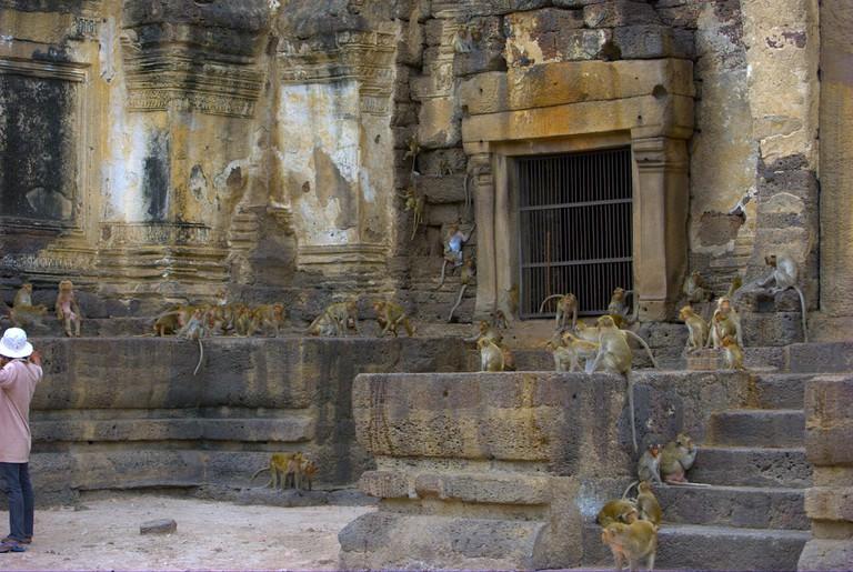 Lopburi. Prang Sam Yod temple