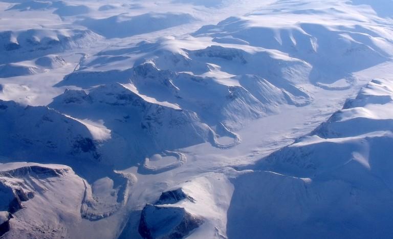 Aerial view of Nunavut