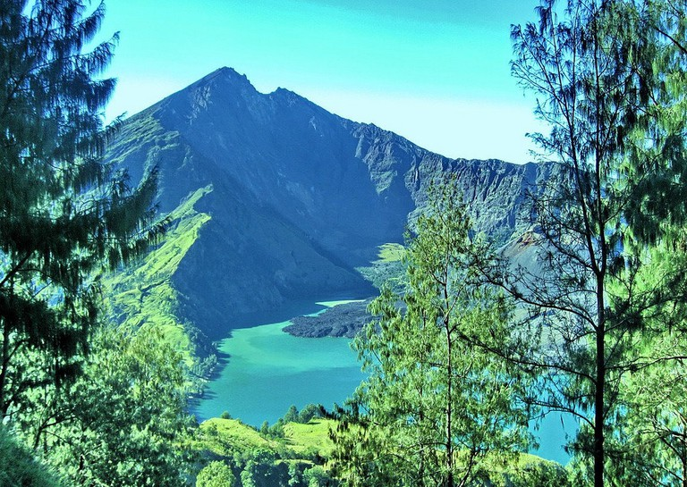 Segara Anak Lake on Mount Rinjani in Lombok