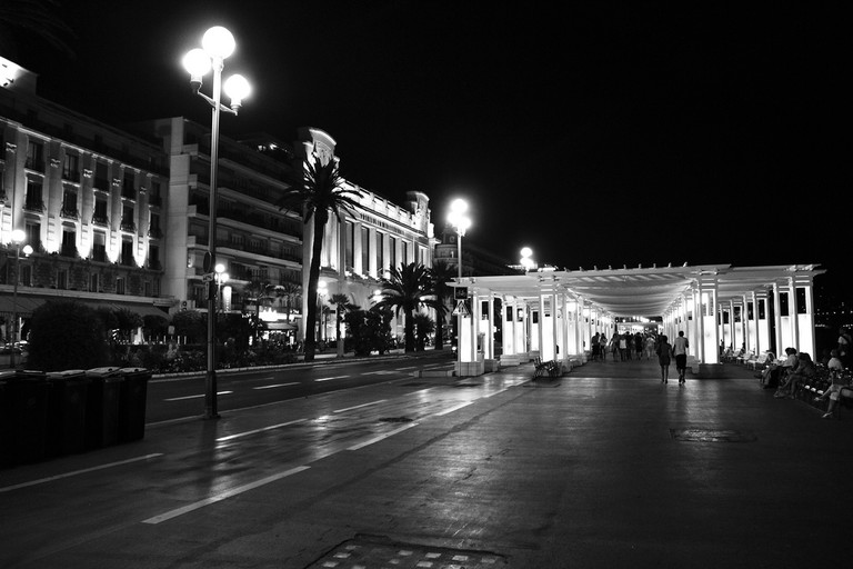 The Promenade des Anglais can be magical at night
