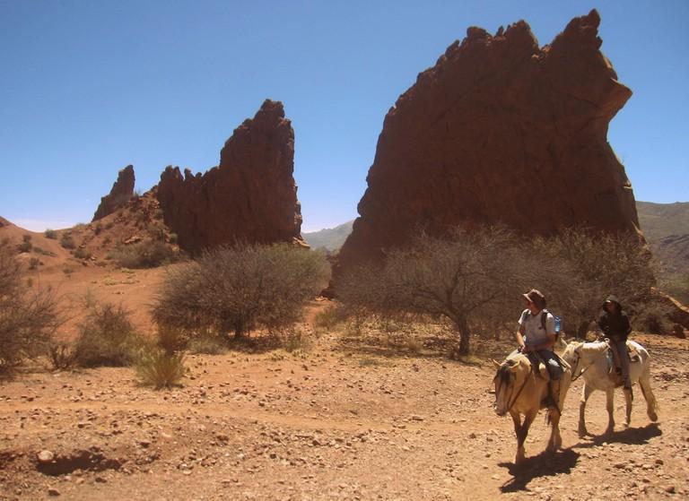Horse riding near Tupiza