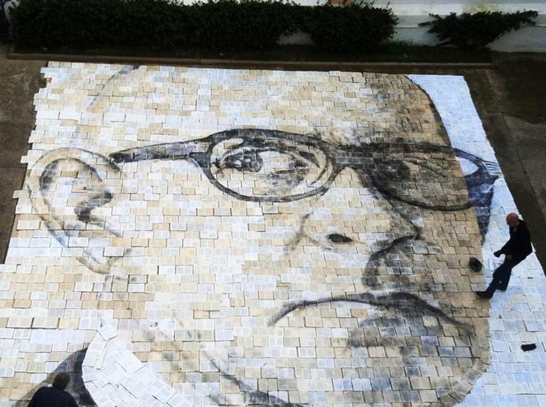 A tribute to Salvador Espriu by Cuban-American artist Jorge Rodriguez-Gerada
