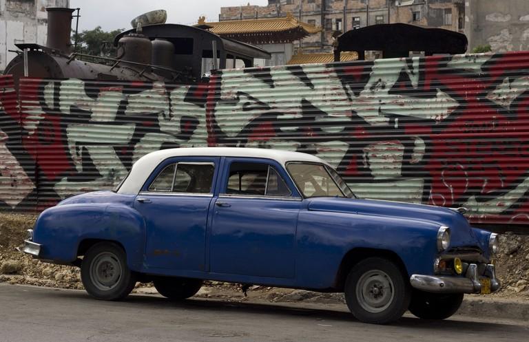 Graffiti near the Partagas Cigar Factory, Havana, Cuba