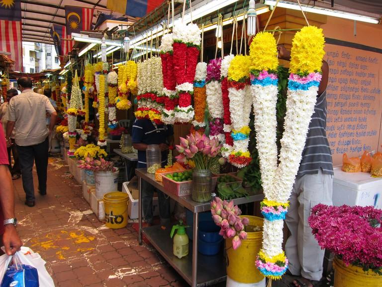 Alleyway of flowers