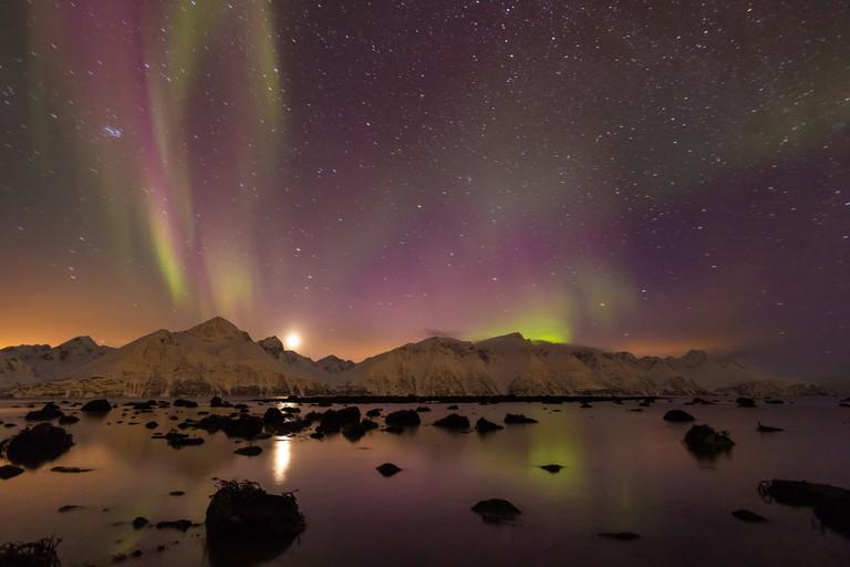 Northern lights at Djupvik