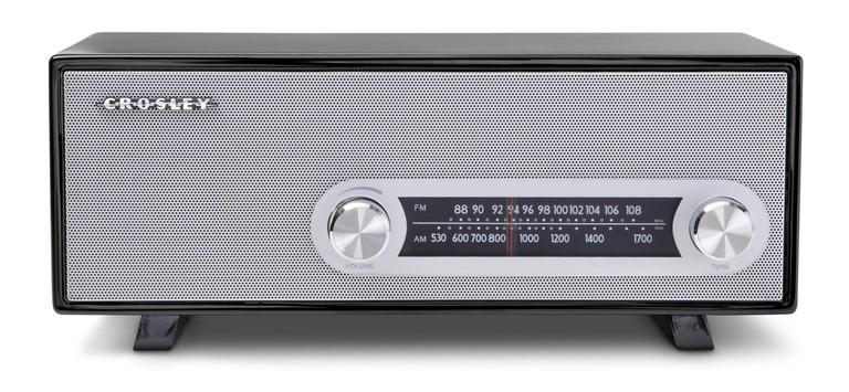 Crosley CR3022A-BK Ranchero Retro AM/FM Tabletop Radio with 3-inch Studio Driver, Black, $75