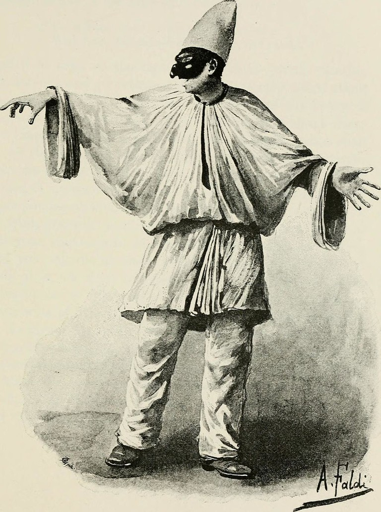 A sketch of Pulcinella │© Internet Archive Book Images / Wikimedia Commons