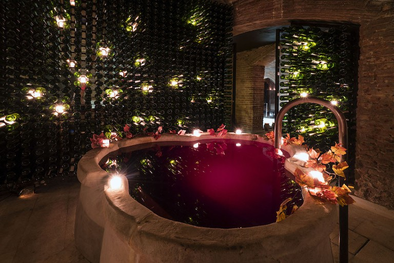 Your own private wine bath