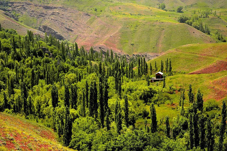 Taleghan has wonderful nature and weather