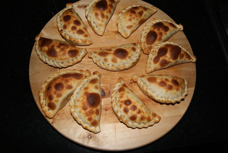 The majority of the empanadas in Argentina are baked likes these
