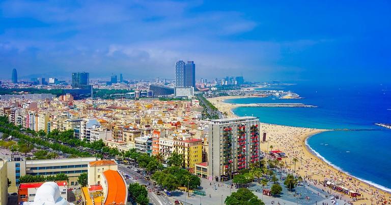 Barcelona's beach CC0 Pixabay
