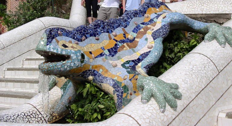 Barcelona, Reptil Parc Guell - Wikicommons