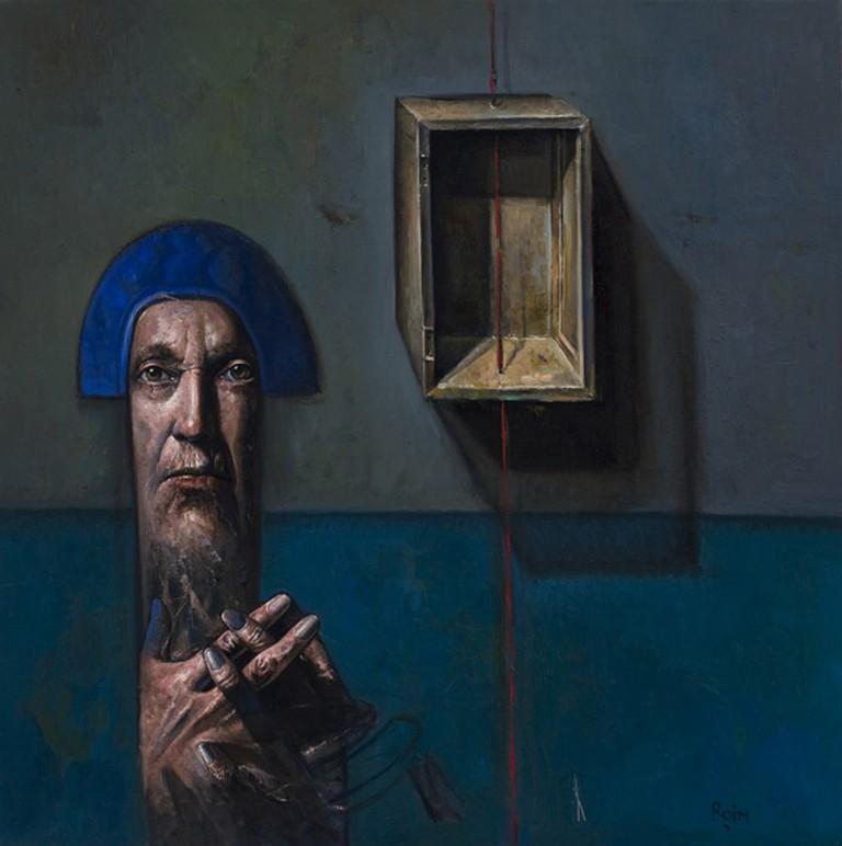 "Alejandro Boim's ""La Caja"" (The Box), oil, 2008"
