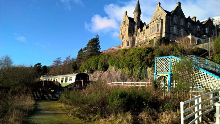 Loch Awe Carriage   Courtesy Of Caledonian Camping Coach Holiday