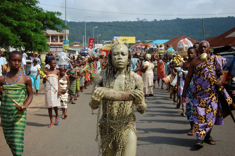 """reThinkng-naZa"" performance art at Ho, Volta Region,"