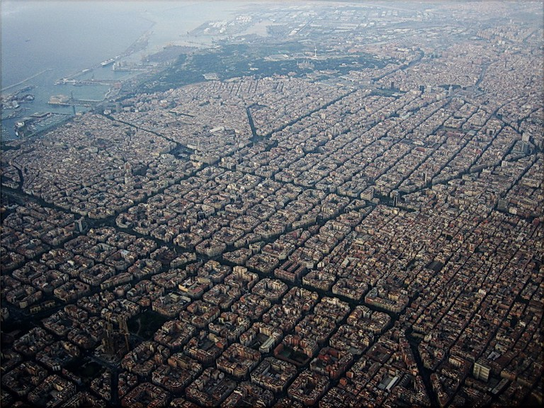 Aerial view of the Eixample