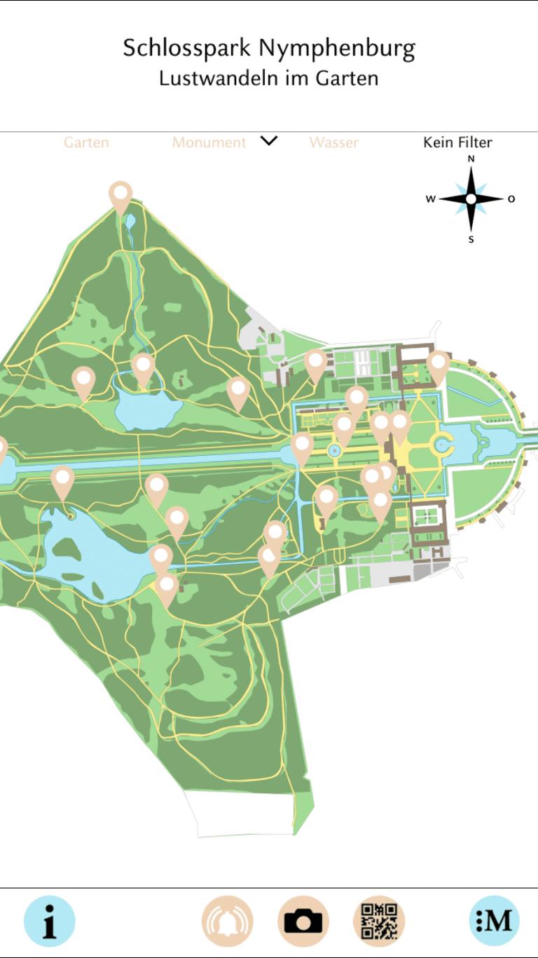 """<ahref=""""http://www.schloss-nymphenburg.de/englisch/park/app.htm"""">The Schlosspark Nymphenburg app</a>"""